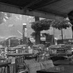 Tropischer Regenschauer