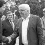 Frank-Walter Steinmeier. Begrüßung in der Bahnhofsmission