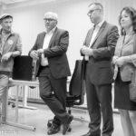Dieter Puhl, Frank-Walter Steinmeier, Reinhard Naumann, Ülker Radziwill