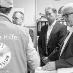 Frank-Walter Steinmeier in der Bahnhofsmission
