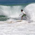 Surfen am Playa Bluff