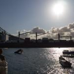 Der Panamakanal bei der Brücke Las Americas