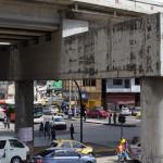 Plaza cinquo de Mayo, einer der wichtigsten Verkehrsknotenpunkte Panama Citys