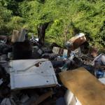 Der Müll wird einfach außer Sichtweite abgekippt