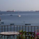 Vielleicht die schnöste Terrasse von Isla Taboga