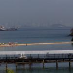 Blick nach Panama City und auf die Einfahrt zum Panamakanal