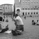 Pizza auf der Piazza