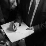 Ein Autogramm von Herrn Steinmeier