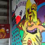 Grafitti auf Etage 7