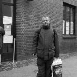 Christian vor der Bahnhofsmission