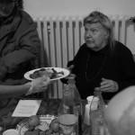 Gänsekeule, am Tisch serviert