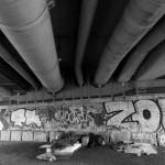Schlafplatz unter der Brücke