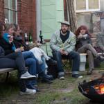 Künstler und Gäste im Gespräch