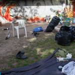 Zelte schon abgebaut