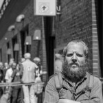 André vor der Bahnhofsmission